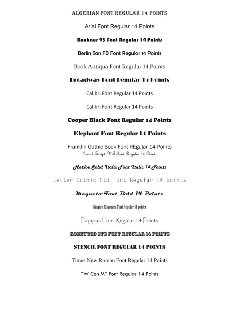 Font Styles – S and S Photo Lab